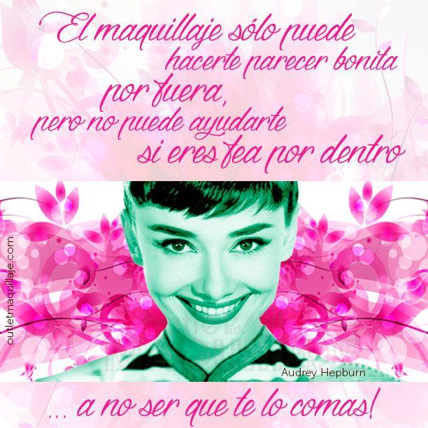 Cita de maquillaje de la maravillosa Audrey Hepburn - Outlet Maquillaje
