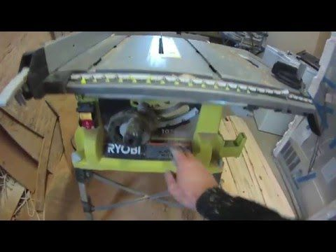 "(34) Ryobi 10"" Table Saw Review - YouTube"