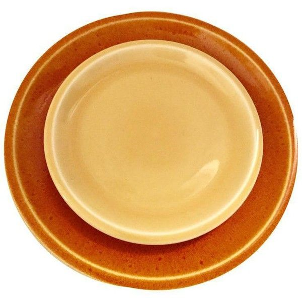 Jars of France Orange Dinner Plates & Yellow Salad Plates - 8 Pieces ($84) ❤ liked on Polyvore featuring home, kitchen & dining, dinnerware, yellow plates, orange salad plates, yellow dinner plates, yellow dinnerware and textured dinnerware