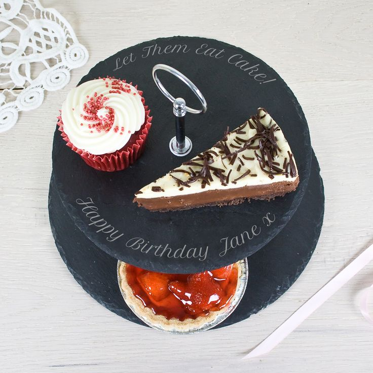 Two Tier Slate Cake Stand - yourgifthouse