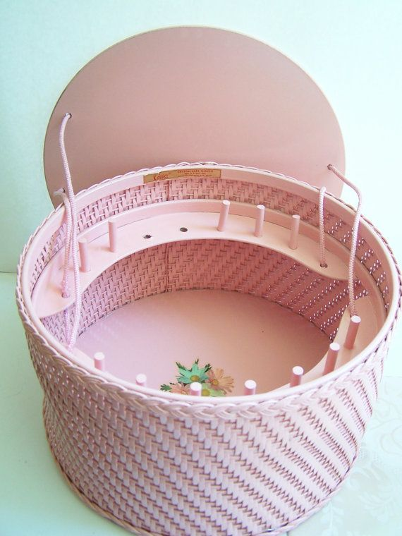 Vintage 50's Wicker Sewing Basket  Cottage Chic by WitsEndDesign, $32.00 ON ETSY.