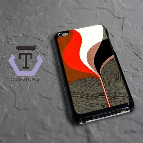 Wood Texture Color iPod 4 Black Case