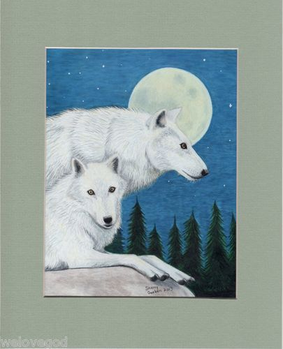 This pair of wolves comes already custom matted to finished dimensions of 8x10.
