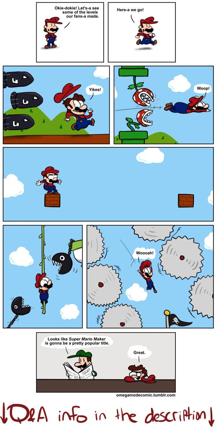 Mario Maker Mario funny, Super mario smash bros, Super