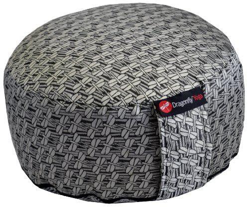 DragonFly Yoga Rondo Cushion, White/Black