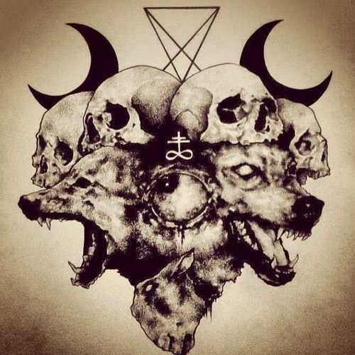 The 25 best skull drawings ideas on pinterest back for Baphomet tattoo meaning