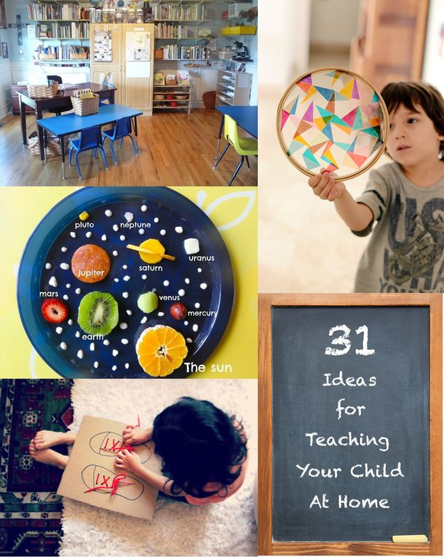 31 Clever And Inexpensive Ideas For Teaching Your Child At Home