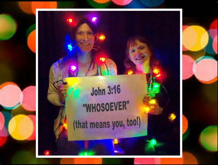 CHRISTMAS-GRAM #10 A message to the GLBT Community from friends, Chrystalynn (one of our greeters) & Cheryl of New Beginnings Christian Church.  Our Christmas-Grams are holiday photos with a special, encouraging message to the Gay, Lesbian, Bisexual, & Transgender community. The pictures feature members and friends of New Beginnings Christian Church in Richmond, Virginia.  Photo taken in December of 2013.