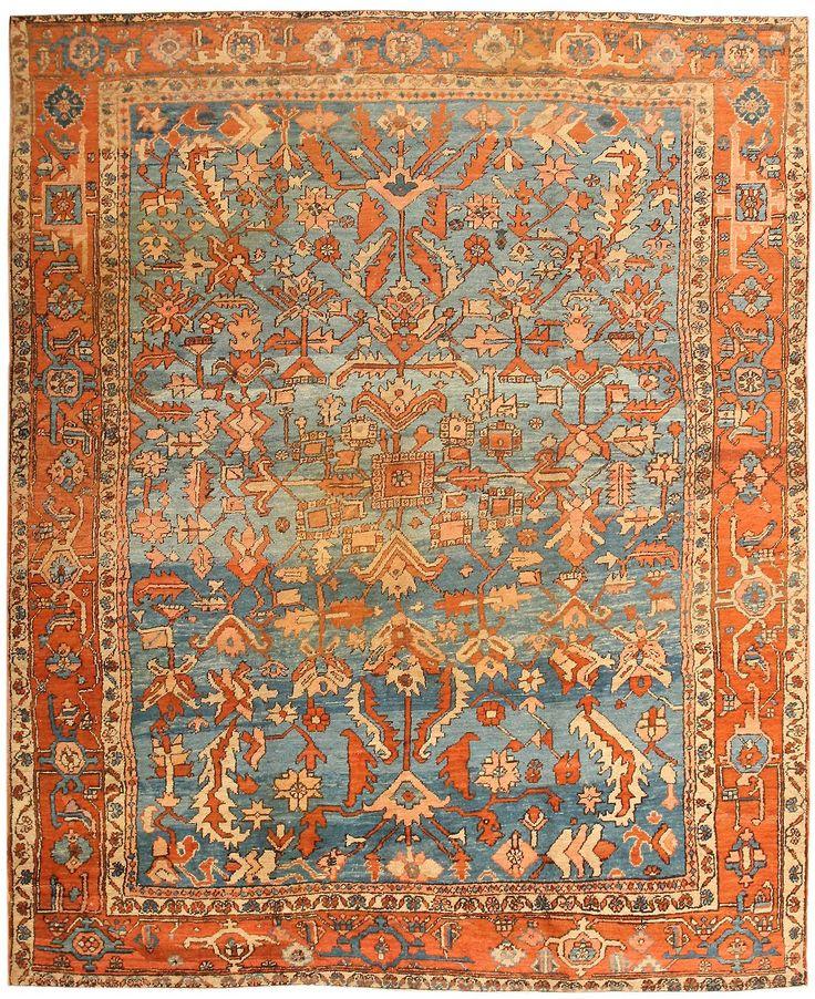 Antique Bakshaish Persian Rug 43712 Detail/Large View