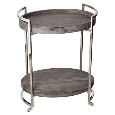 uttermost colin wooden serving cart - Dining Room Serving Carts