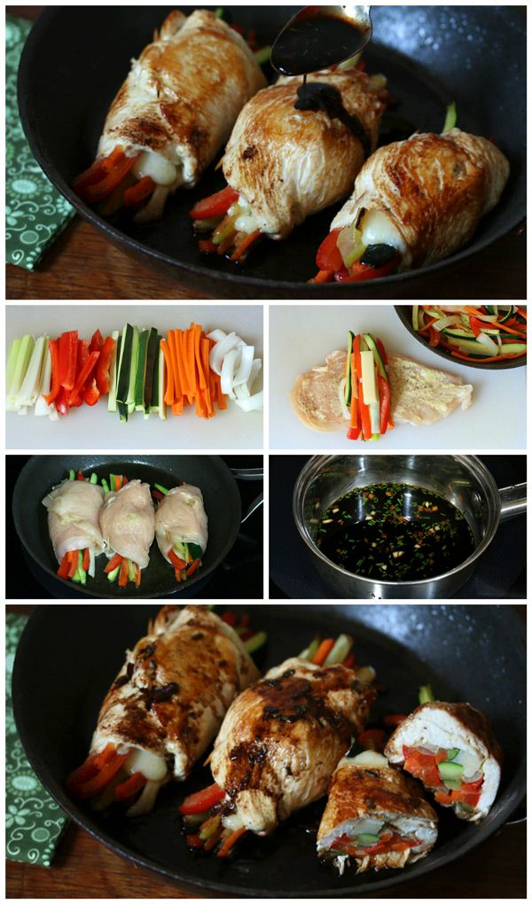 Balsamic Glazed Chicken Rolls. daringgourmet.com
