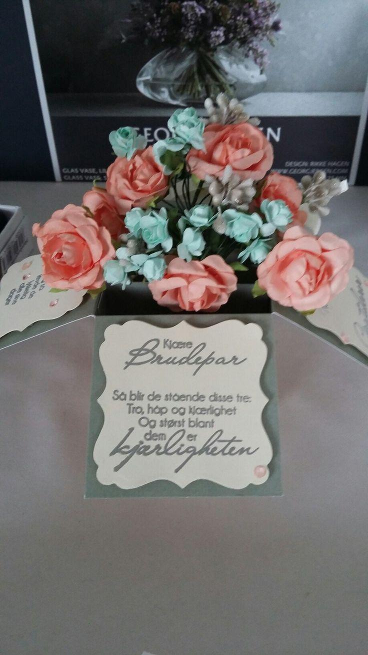 Card in a box. Bryllup