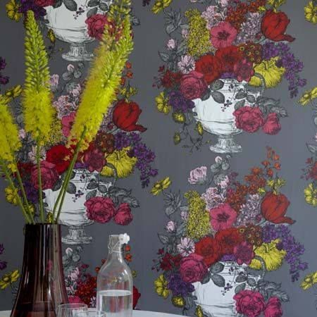 Clarke and Clarke Wallpaper - 'Flourbundia' at Studio Interiors