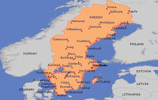 cool Kalmar Sweden Map
