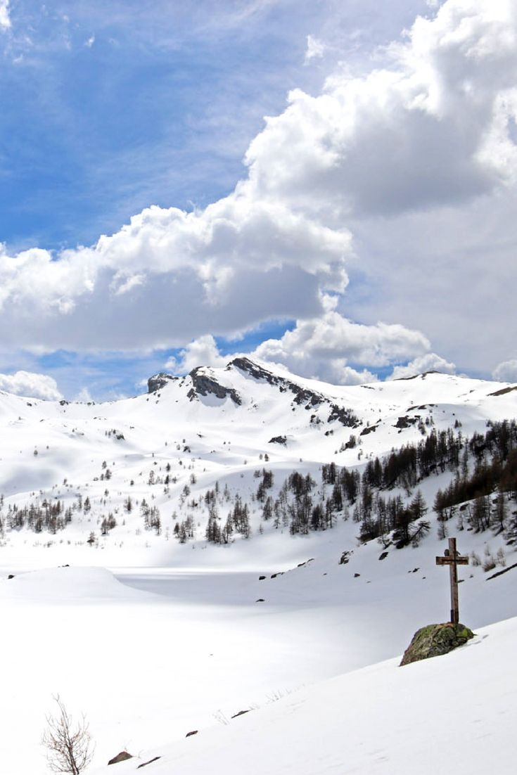 Lac d'Allos, Franse Alpen in april: nog volop sneeuw!