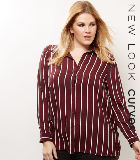 Curves – Rotes Hemd mit Streifen