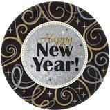 Sparkling New Year's Dessert Plates 8ct
