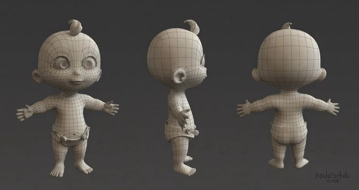 Heidy Curbelo. 3D, Diseño y Animación.: Bebé Cartoon / Cartoon Baby