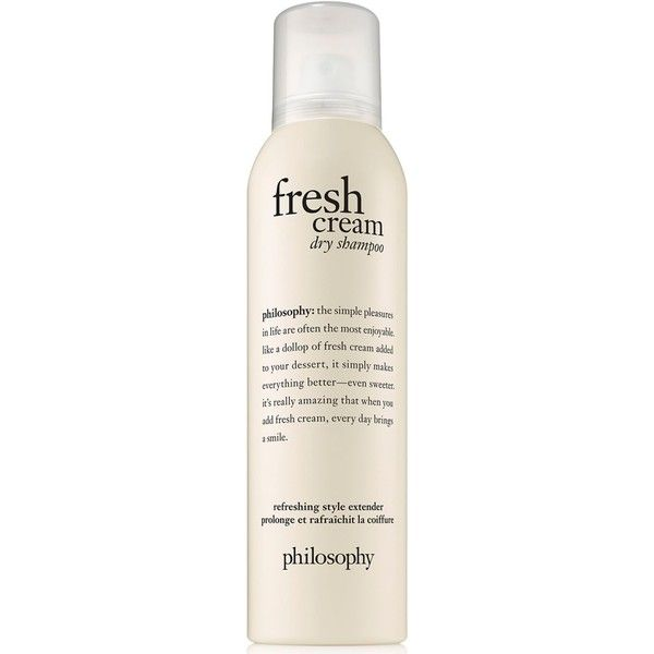 philosophy Fresh Cream Dry Shampoo ($24) ❤ liked on Polyvore featuring beauty products, haircare, hair shampoo, no color, dry hair shampoo, waterless hair shampoo and philosophy hair care