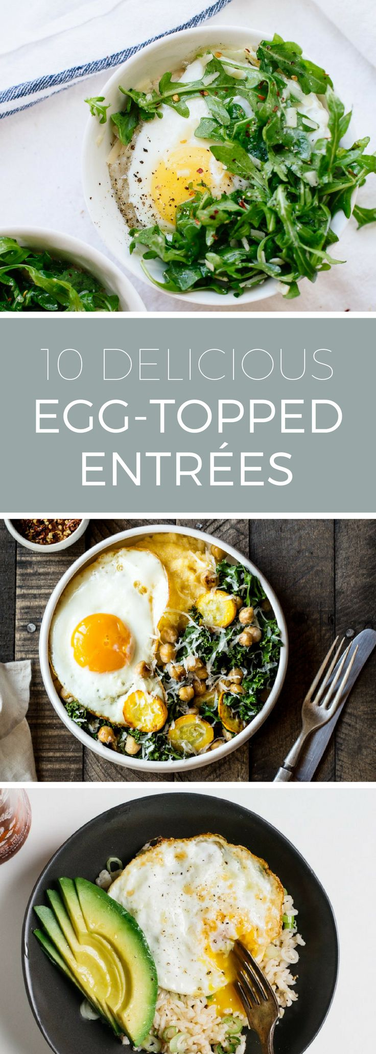 Put an egg on it! Top your favorite rice bowls, pizzas and even pasta with a perfectly cooked, runny egg! Try 10 of our favorite egg-topped meals.