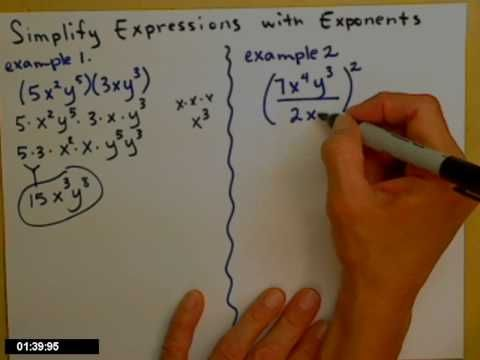 ▶ Simplifying expressions with exponents - YouTube