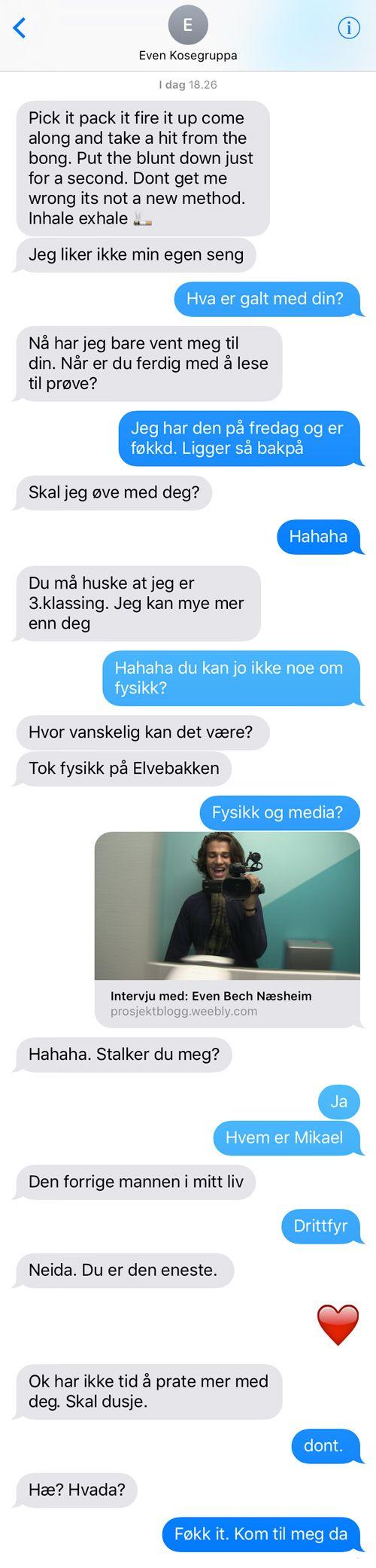 SKAM sesong 3 følger Isak gjennom første semester i andreklasse på Hartvig Nissen vgs i Oslo. Du kan følge serien hver dag på skam.p3.no, og på alle karakterenes Instagramprofiler.