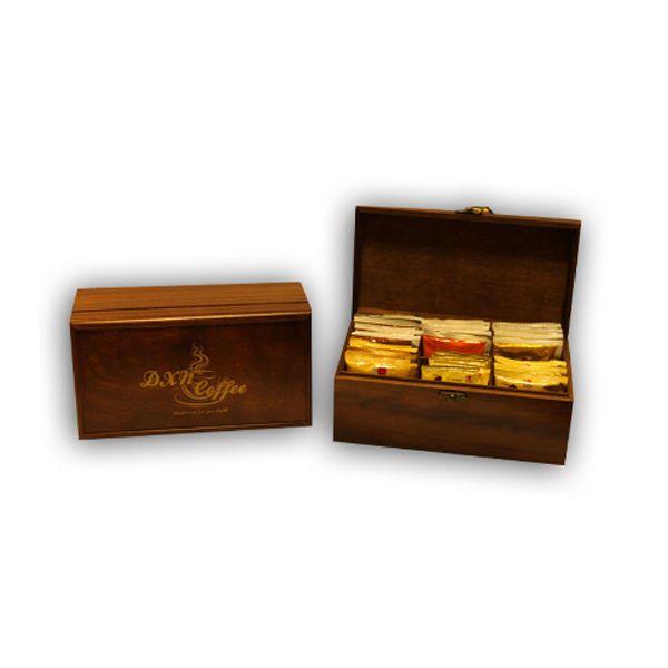 € 46,00 DXN Gift Box legno Big Ganoderma Caffè cioccolata the bustine solubile bar kit  Vedi altro su: Altri prodotti su: http://stores.ebay.it/beerbazar