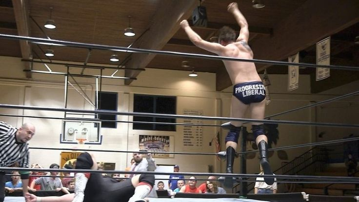 'I want to upset people', says the Progressive Liberal, a wrestler earning enemies – and some fans – across Appalachia.  Source link... - #AntiTrump, #Liberal, #Meet, #Progressive, #Villain, #World_News, #Wrestling039S
