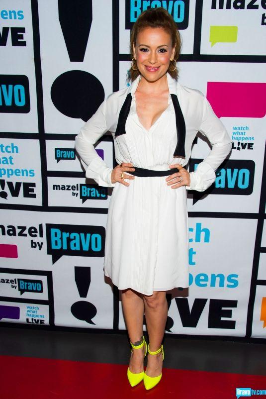 Alyssa Milano -  Dress: Marissa Webb Shoes: Marissa Webb