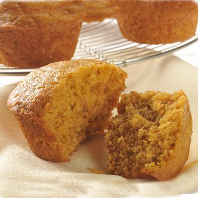 LIBBY'S Pumpkin Muffins. trying these this morning with flax seeds and chunks of apple added(and apple sauce substitiuted for oil because we are out of oil)