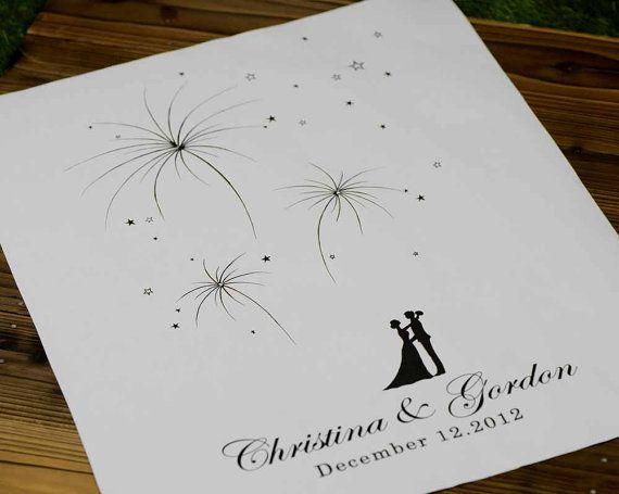 Hand gezeichnet Fingerabdruck Feuerwerk Wedding Baum von LiWedding