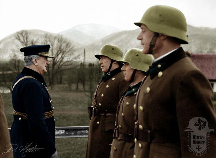 Horthy látogatása a Kárpátaljai csapatoknál.