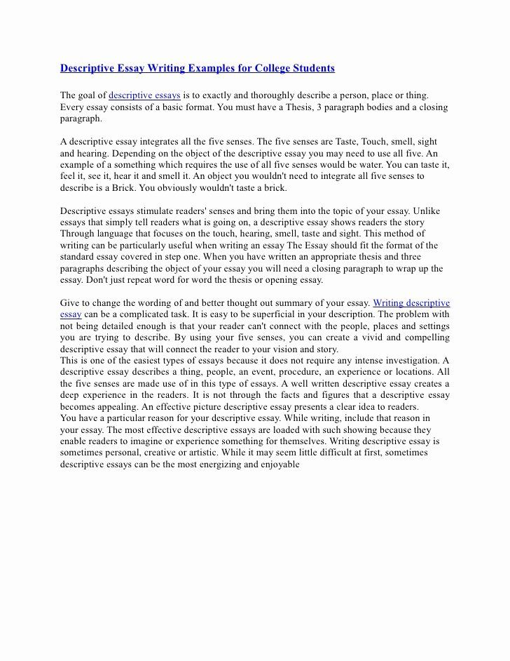 Personal narrative essay examples for colleges