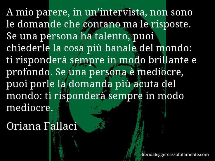 Cartolina con aforisma di Oriana Fallaci (0)