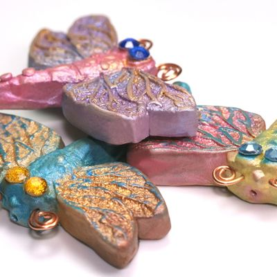 Darling little dragonfly brooches which belong to the Nature Spirits range of jewellery