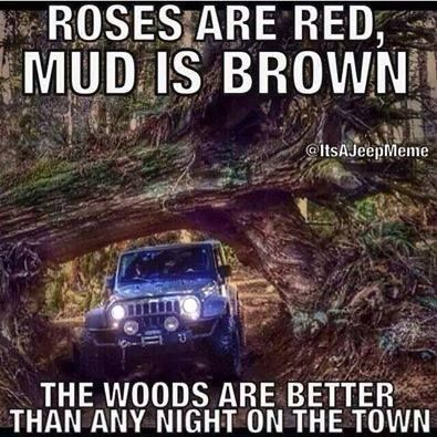 Roses are Red Mud is Brown The woods are better than a night on the town #teraflex Come check out our mudproof trucks at http://www.rcfunfactor.com