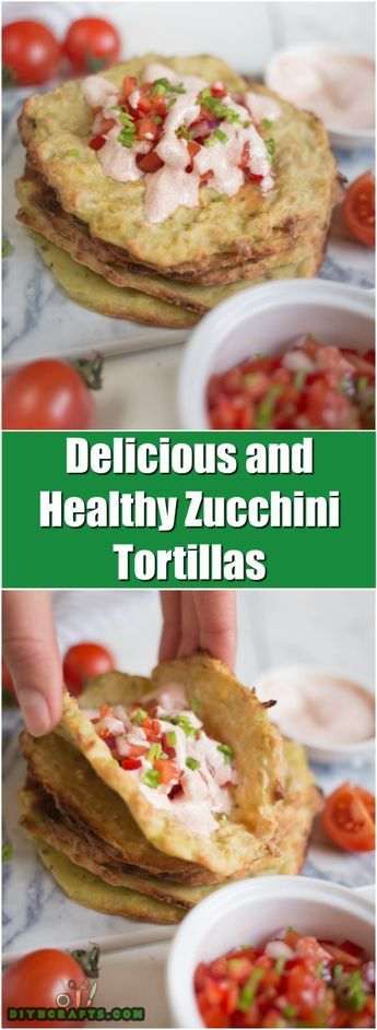 These Easy To Make Zucchini Tortillas Are Healthy And Delicious - Recipe and Photos by DIYnCrafts Team via @vanessacrafting