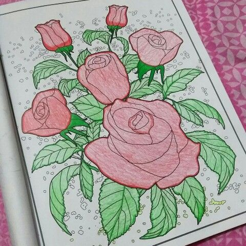 Coloring book for adult #rose