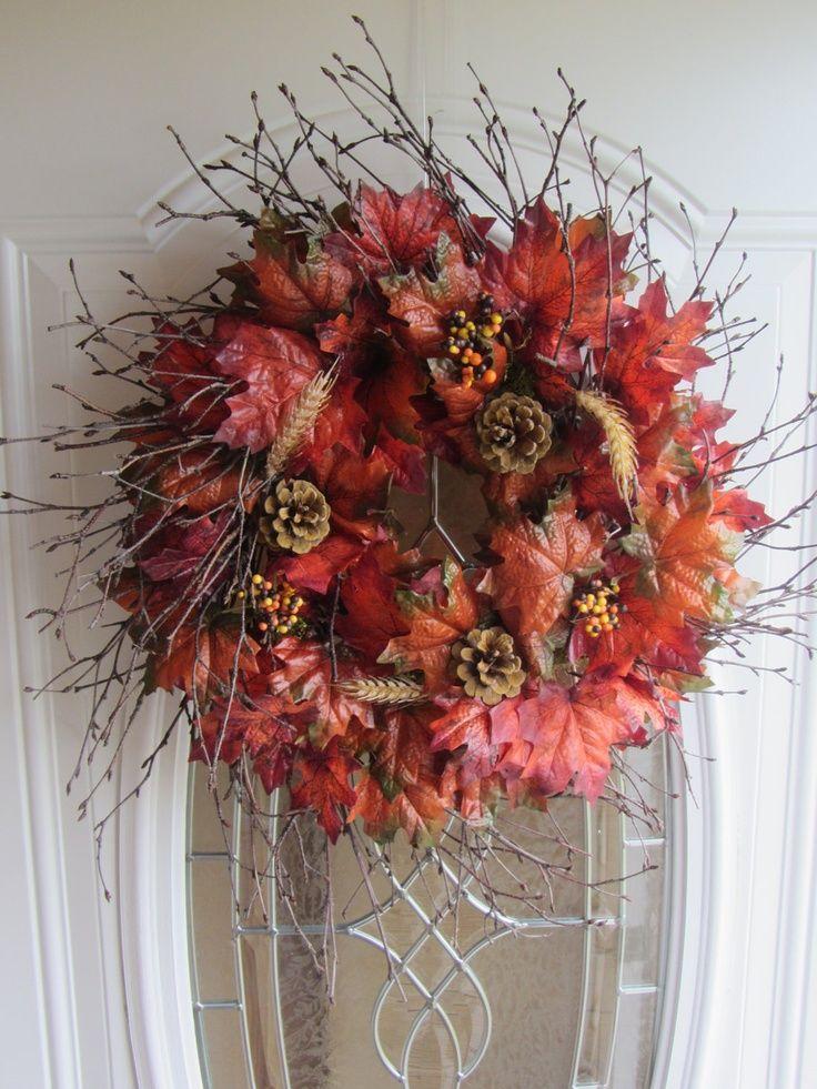 fall wreaths for front door   Fall Wreath - Autumn Wreath - Front Door Wreath - Fall Decor. $54.95 ...