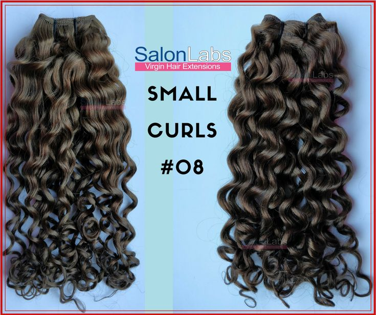 SalonLabs Virgin Hair Extensions - Small Curls  These small curls will allow you to achieve your dream curly hairstyle or brush out for a light weight natural afro inspired hairstyle. Produced with 100% Raw Virgin Indian Human Hair. Absolutely tangle free.  Our Weaves/ wefts guarantee that you will have little to no shedding or strand loss regardless of texture and curl/wave pattern.  We offer exclusive discounts and custom pricing for Distributors, Re-sellers, Salon owners and Stylists…