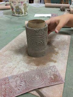 it's art day: Faux Raku vases