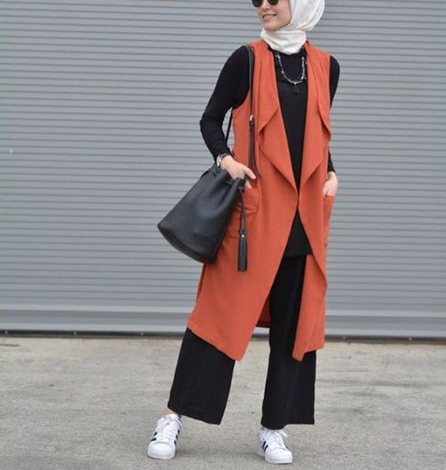 long vest hijab look