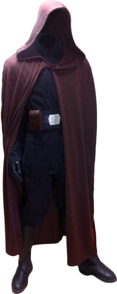 Star Wars Luke Skywalker Jedi Knight Robe ONLY - Dark Brown - Replica Star Wars Costume