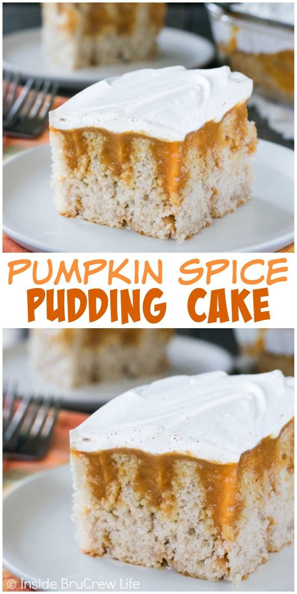 Pumpkin pudding and fall spices make this an easy cake to serve for any fall party. (Fall Recipes Party)