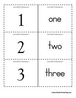 Numbers Word Flash Cards 0 to 100 - Set of 101 flash cards numbered 0 to 100. Great for number recognition.
