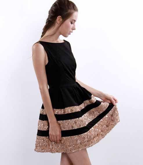Newest Sleeveless render skirt  -Casual Dresses   Casual Dresses_BT (Black,Red)