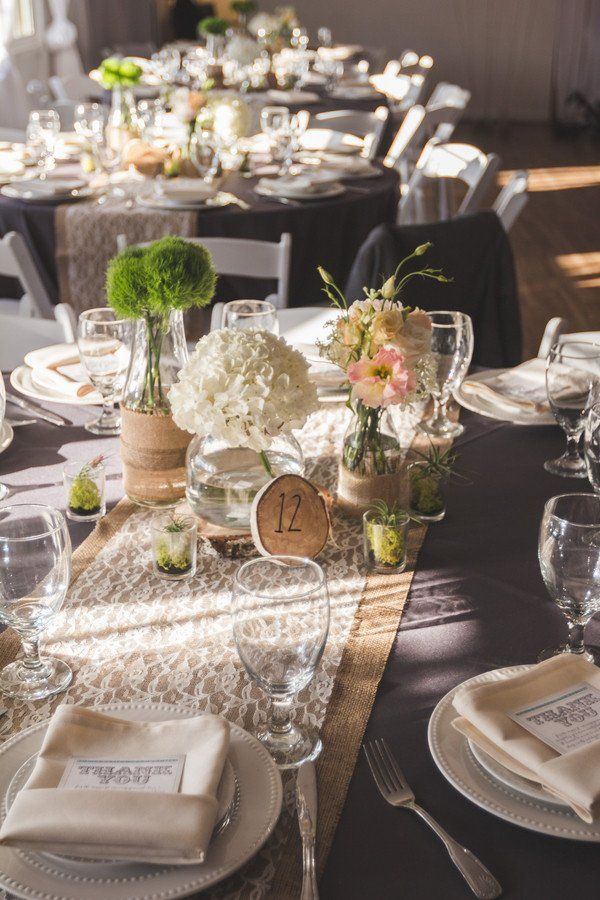 24 Lovely Rustic Table Decor for Wedding in 2020 | Rustic wedding ...