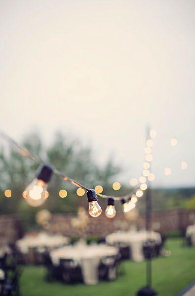 vintage-style string lights