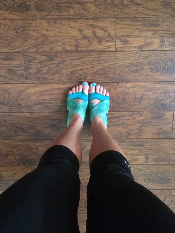 Not exactly socks but I wear these to teach PiYo
