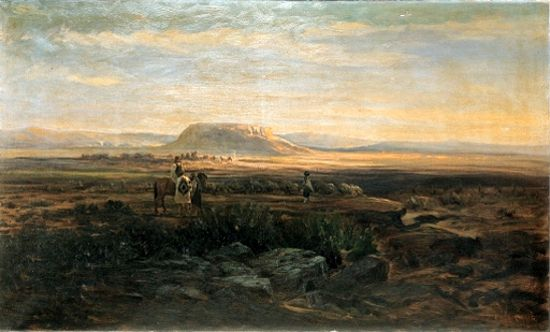 Meeting On The Mesa by Charles Craig.